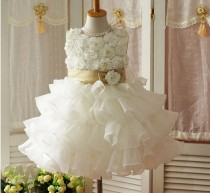 wedding photo - Elegant Ball Gown Square Neckline Floor-length Sequins Flower Girl Dress With Free Belt