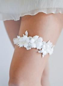 wedding photo - Лука свадебные подвязки, кружевные свадебные подвязки, слоновой кости свадебная Подвязка