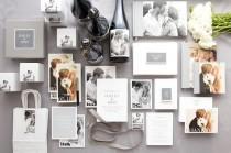 wedding photo - Gray Wedding Invites-- Cute!