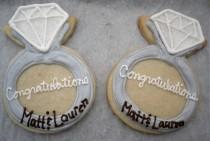 wedding photo - Engagement Ring Cookies Wedding Shower Favors Bridal Shower