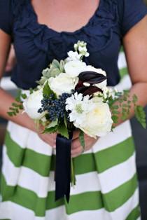 wedding photo - {Полосатый Делом}: Оттенки Синего, Белый Зеленый