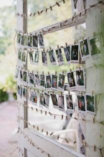 wedding photo - Polaroid Guest Book Display