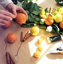 wedding photo - Citrus And Lemon Leaf Garland