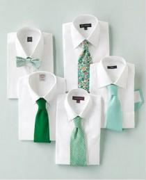 wedding photo - {Cravates} Aqua, Teal, Vert, Vert clair et blanc