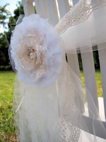 wedding photo - مجموعة من رث شيك الرباط واللؤلؤ زهرة بروش الديكور مثالية لحفل زفاف أنيقة - صغيرة أو متوسطة أو كبيرة