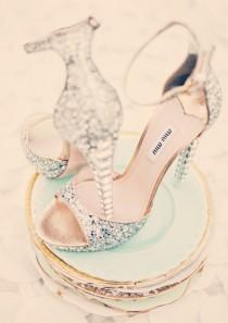 wedding photo - Aschenputtel-Hochzeits-Schuhe!