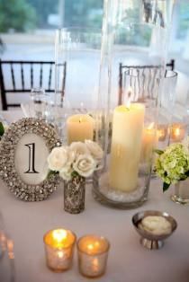 wedding photo - ~ Chiffres Bling de table de bricolage