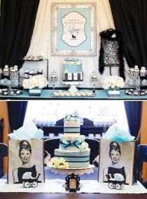 wedding photo - Petit déjeuner glamour à douche de bébé de Tiffany