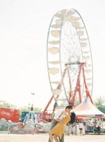 wedding photo - Colorful County Fair Engagement Session
