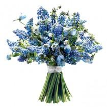 wedding photo - Bridal Bouquets Blue