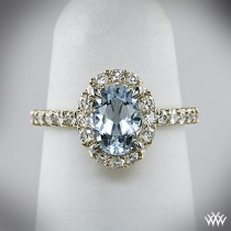 wedding photo - Diamond Halo Rings