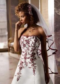 wedding photo - الزفاف - أحمر - عنابي