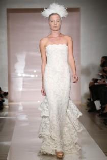 90f802eeb64 Lace Lovers Wedding Dress Inspiration. Reem Acra Bridal Fall 2014 -  Slideshow ...