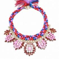 wedding photo - Radiant Orchid Braided Necklace