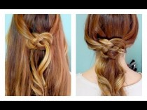 wedding photo - How To: Celtic Knot Half Updo And Ponytail!