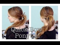 wedding photo - How To Do A Quick Braided Bow Ponytail