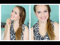 wedding photo - How To Do A Fishtail Braided Side Ponytail