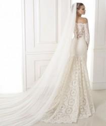 wedding photo - Manches longues et 3/4 Longueur manches robe de mariage Inspiration