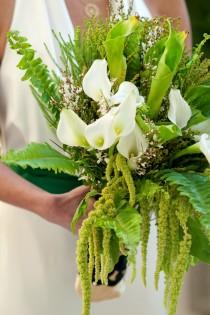 wedding photo - Bouquet de mariée verte