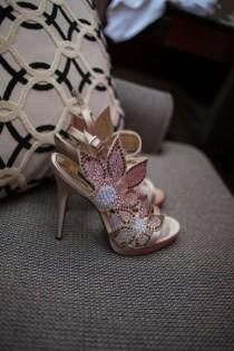 wedding photo - 30 Adorable Sparkly Wedding Shoes