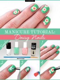 wedding photo - Manicure Tutorial: Daisy Nails