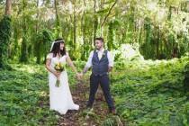 wedding photo - Indie Rustic Garden Wedding At Florida's Saxon Manor