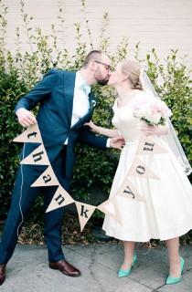 wedding photo - 1950s Inspired Auburn Wedding