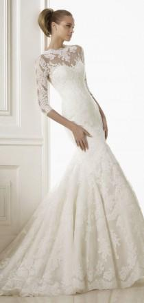 wedding photo - Pronovias 2015 Bridal Collections - Part 2 - Belle the Magazine . The Wedding Blog For The Sophisticated Bride