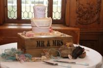 wedding photo - Bucket And Sand Wedding Cake