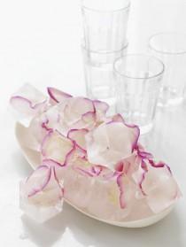 wedding photo - Rose ice cubes