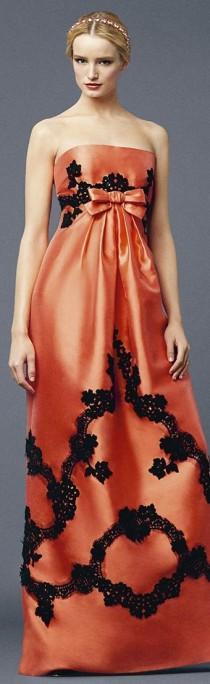 wedding photo - Платья....Оранжевый Навязчивые Идеи