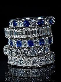 wedding photo - Anillos de diamantes