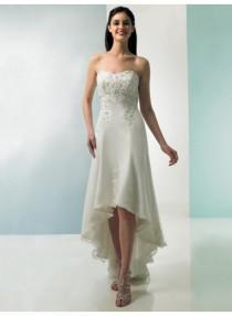 wedding photo - Watteau Train Sweep-train Strapless Sweetheart Empire Wedding Dresses WE1643