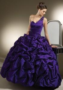 wedding photo - Silky Taffeta With Beading And Rosette Detail Bridesmaids Dresses(HM0592)