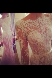 wedding photo - Кружева Любителей Свадебное Платье Вдохновение