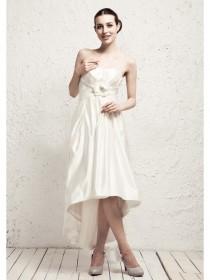 wedding photo - A-line Strapless Empire Satin Party Dresses