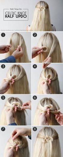 wedding photo - Cheveux How-To: Celtic Knot demi-Chignons