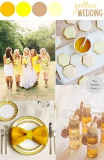 wedding photo - A Southern Soirée: Yellow Wedding Ideas