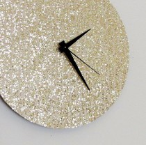 wedding photo - Unique Wall Clock, Gold Glitter Clock, Great Gatsby, Home And Living, Decor & Housewares, Living Room Decor, Unique Gift