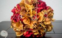 wedding photo - Rústico Ramo rojo y oro boda Broche / Button. Boda de la caída, boda al aire libre, la boda del vintage, boda elegante bohemia