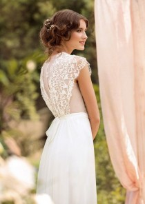 wedding photo - Wedding Dress Designer Wedding Gown Bohemian Beach Wedding Dress With French Lace Made To Order
