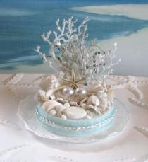 wedding photo - صدف شاطئ كعكة الزفاف توبر اللؤلؤ، المرجان، كعكة الزفاف توبر