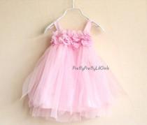 wedding photo - Mädchen-Kleid, Blumenmädchen Kleid, Baby-Kleid, Kleines Mädchen, Tüll-Kleid, Rosette Kleid, Kleines Mädchen, Kleinkind-Kleid