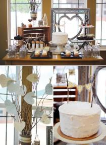 wedding photo - Un rústico con Encanto ducha de los pares {arpillera y Hearts} / / Hostess With ...