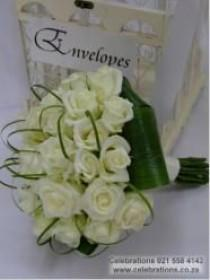 wedding photo - Bouquets In White