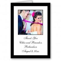 wedding photo - ببساطة أنيقة شكرا لك بطاقة