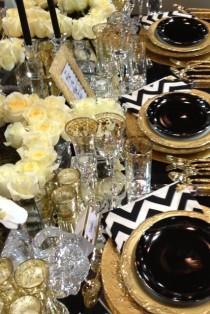 wedding photo - Black And White Stripe Weddings