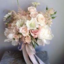 wedding photo - Свадебные Букеты Светлых Оттенков