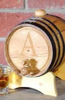 wedding photo - Roble personalizada Whisky Barrel, Pequeño