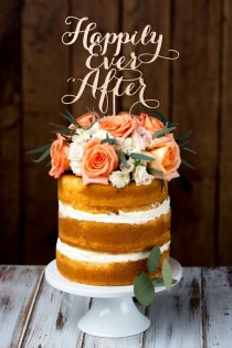 wedding photo - Topper Pastel de boda - Felices para siempre - Abedul